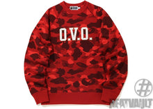 Load image into Gallery viewer, Bape x OVO Color Camo Crewneck Red