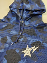 Load image into Gallery viewer, Bape Blue Jersey Hoodie