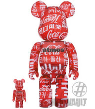 Load image into Gallery viewer, Bearbrick Atmos x Coca-Cola 100% & 400% Set Clear/Red