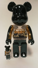 Load image into Gallery viewer, Bearbrick 100%/400% Innersect Black-Gold