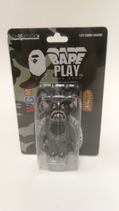 Bearbrick Bape 1st Shark Camo 100% Black