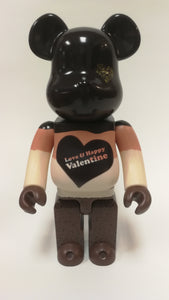 Bearbrick 400% St Valentines Day 2017 Black Brown White