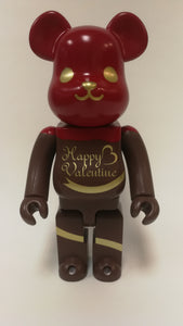 Bearbrick 400% St Valentines Day 2017 Red Brown