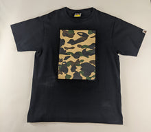 Load image into Gallery viewer, Bape Yellow Camo Pattern Black T-Shirt