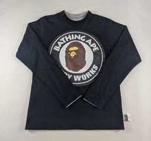 Load image into Gallery viewer, Bape College Black Long Sleeve
