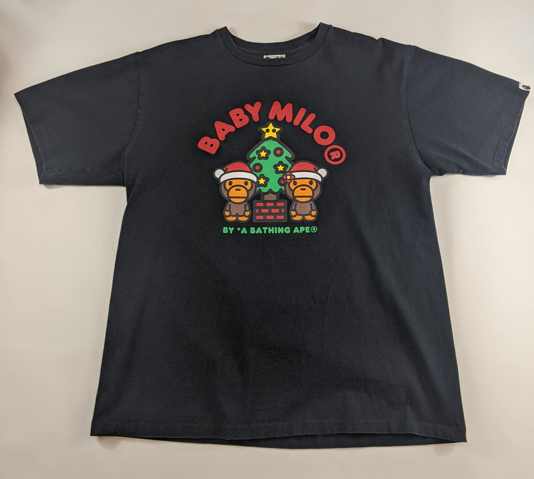 Bape Christmas Black T-Shirt