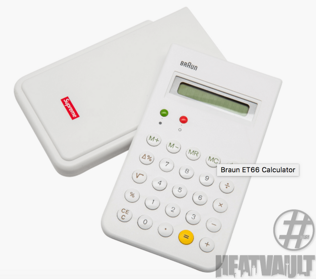Supreme Braun Calculator