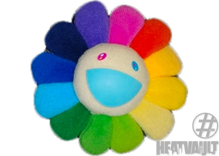 Takashi Murakami Flower Plush Pin Rainbow/White