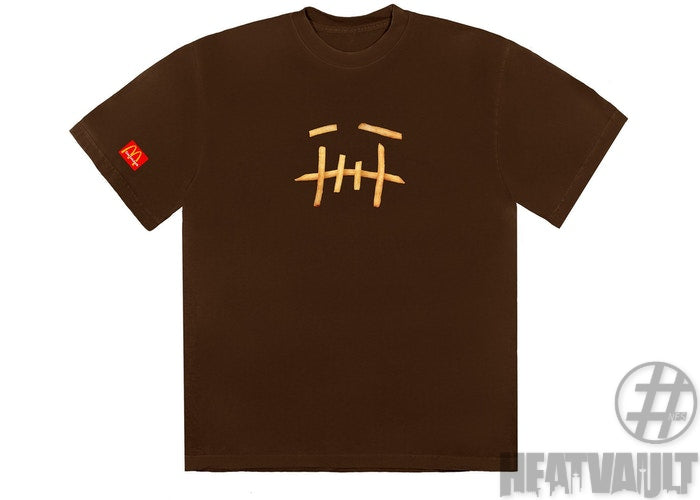 Travis Scott Cactus Jack Fry Brown T-Shirt