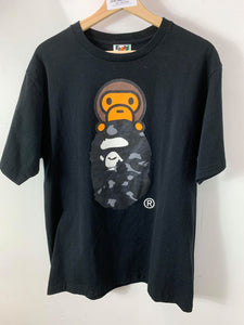"Bape ""Baby Milo x Bape Head"" Black T-Shirt"