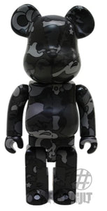 Bearbrick 400% Bape Play Camo Black