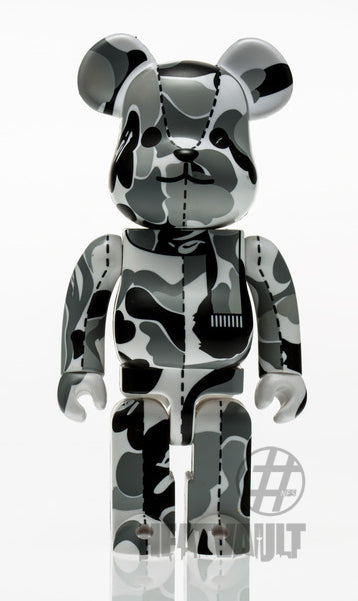 Bearbrick 400% Bape Play Camo Grey