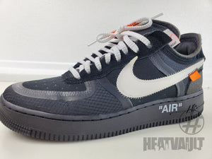 Nike Air Force 1 Low Off-White Black White Size 8.5, Condition: Excellent