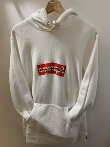 Supreme CDG Red on White Hoodie