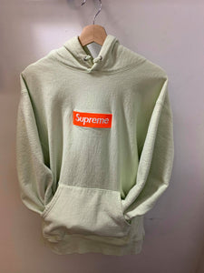 Supreme FW17 Orange on Lime Hoodie