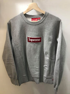 Supreme Red on Grey Crewneck
