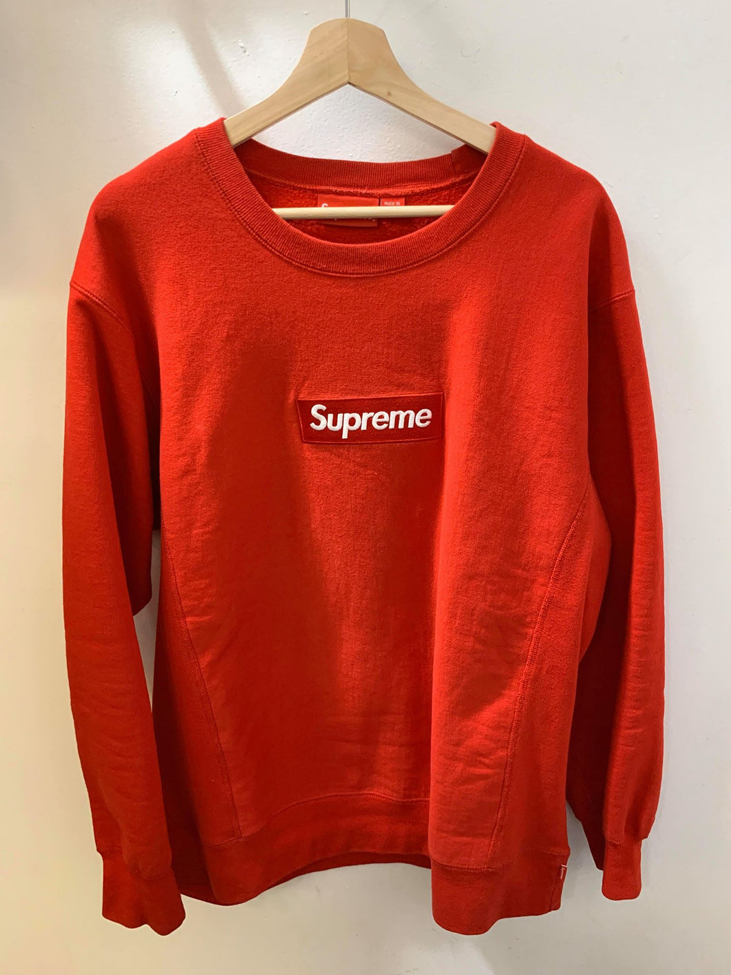 Supreme FW15 Red on Red Crewneck