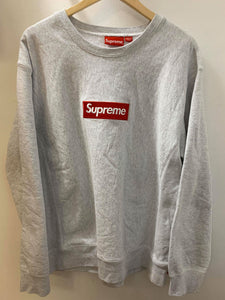 Supreme FW18 Red on Grey Hoodie