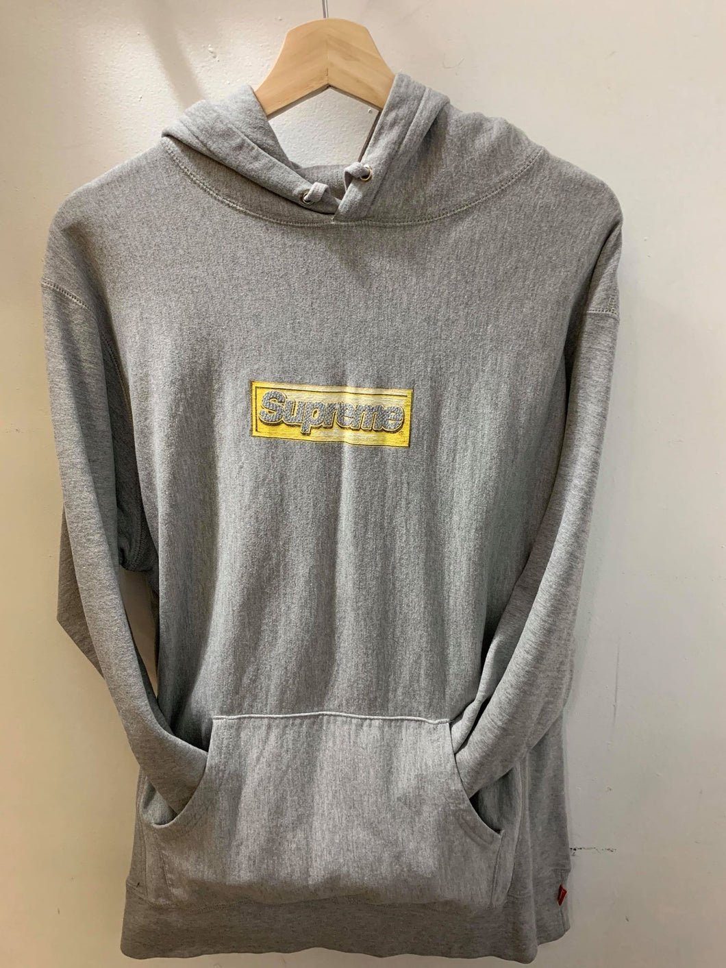 Supreme Bling Gold on Grey Hoodie