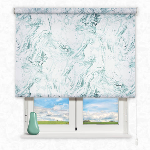 Foto Enrollable Kaaten Estampado Marble Green