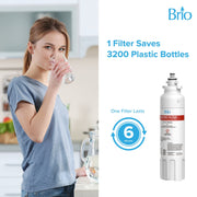 Brio 6020A Refrigerator water filter Replacement 3-pack for LG LT800P, ADQ73613401 Kenmore 9490, 46-9490, 469490,