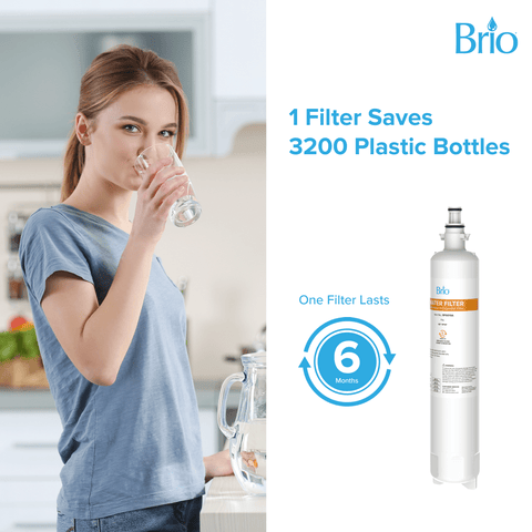 Brio 6019A Refrigerator water filter Replacement for GE RPWF RWF1063, RWF3600A, WSG-4, DWF-36, R-3600, MPF15350