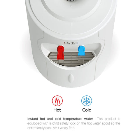 Hot and Cold Water Dispenser Cooler Top Load, White, Brio Premiere - water cooler