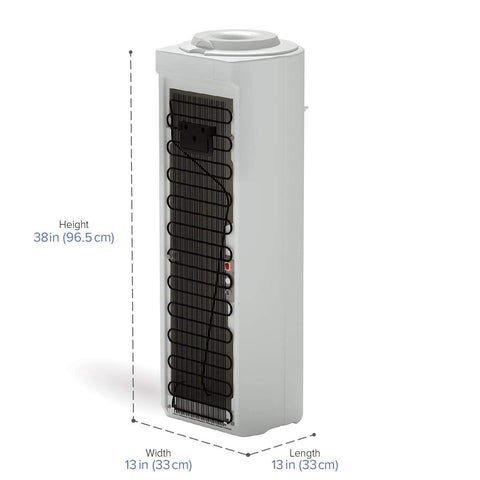 Premier Top-Load Room Temp and Cold Water Cooler, White - water cooler