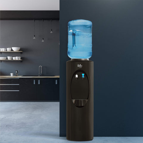 Room Temp and Cold Water Dispenser Cooler Top Load, Cook and Cold, Black, Brio Premiere - water cooler