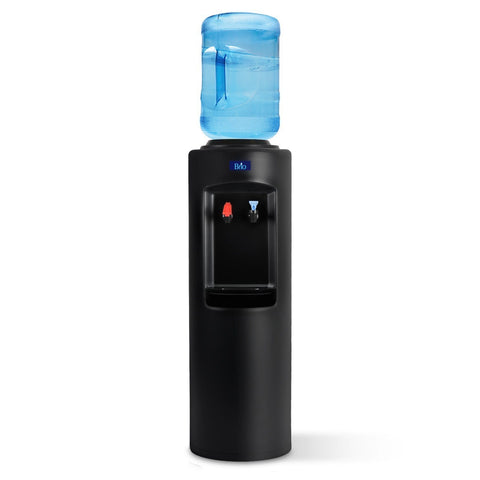Hot and Cold Water Dispenser Cooler Top Load, Black, Brio Essential - water cooler