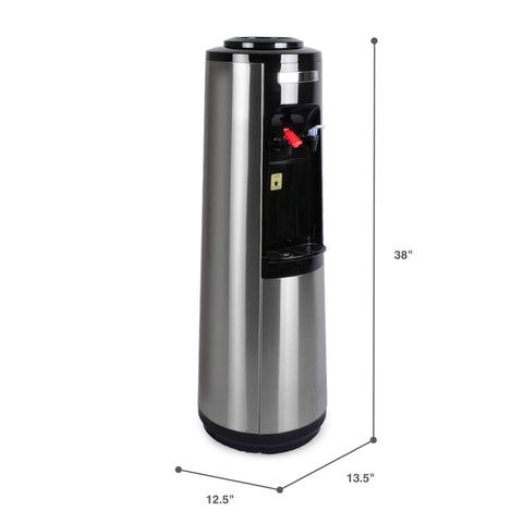 Hot and Cold Water Dispenser Cooler Top Load, Stainless Steel, Brio Signature - water cooler
