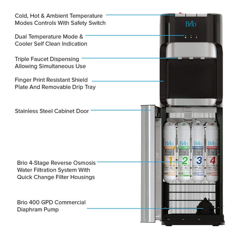 400 Series Bottleless Reverse Osmosis Water Cooler