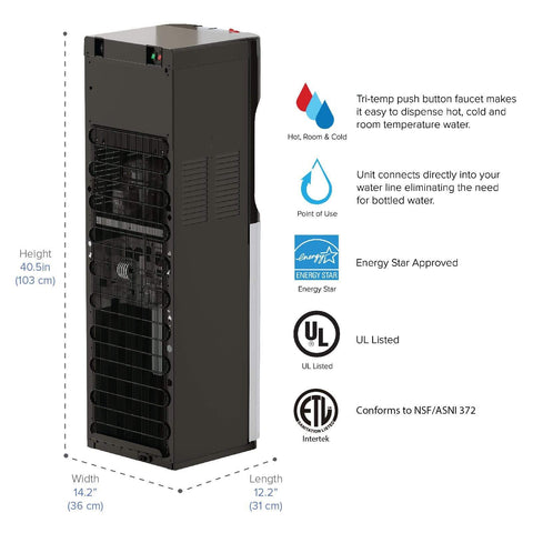 400 Series Bottleless Reverse Osmosis Water Cooler - water cooler