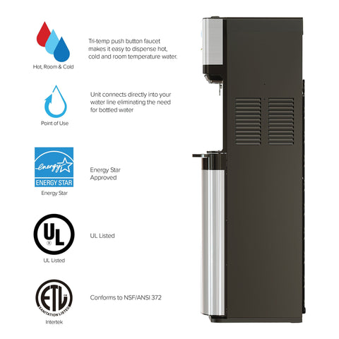 500 Series 2-stage UV Self-Cleaning Bottleless Water Cooler