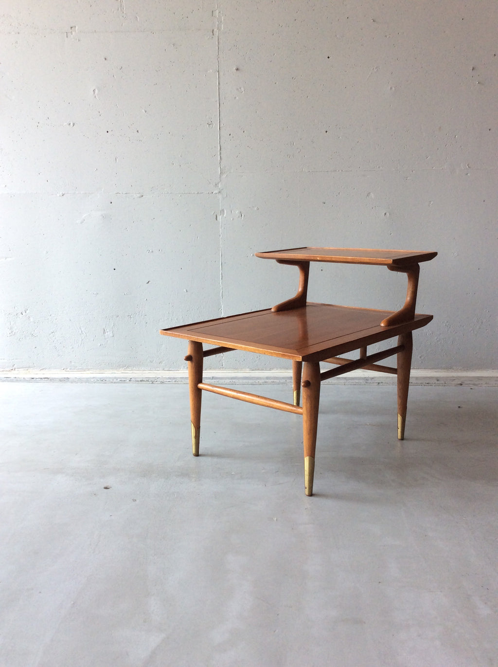 レーン コペンハーゲン サイドテーブル / lane altavista copenhagen side step end table with brass legs #0106