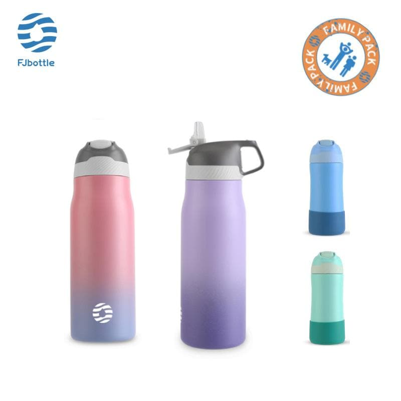 Vacuum Insulated Water Bottle Family Package Pack of 4 - FJBottle