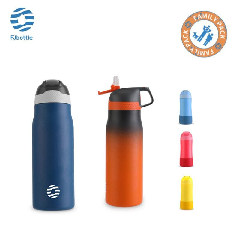 Vacuum Insulated Water Bottle Family Package Pack of 5 - FJBottle