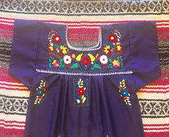 Puebla Dress - Purple