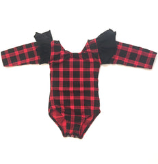 Long Sleeve Buffalo Plaid Leotard