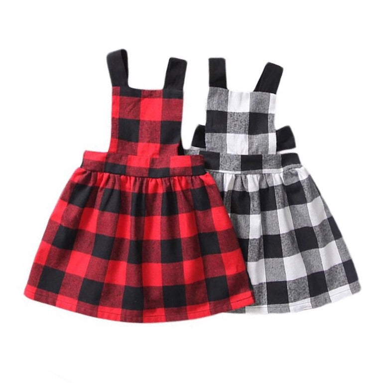 Plaid Pinafore Dress