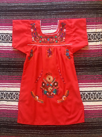 Puebla Dress - Red