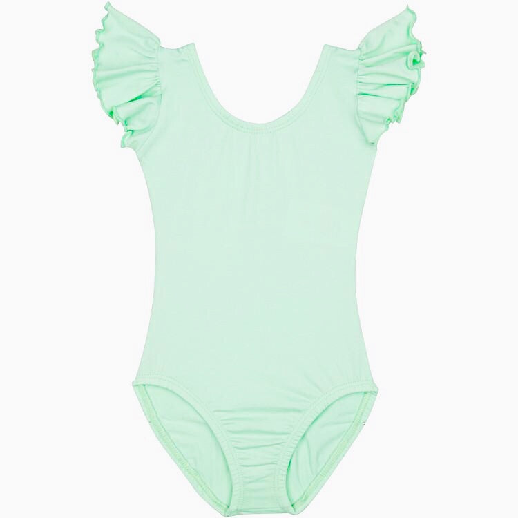 Flutter Sleeve Leotard - Mint