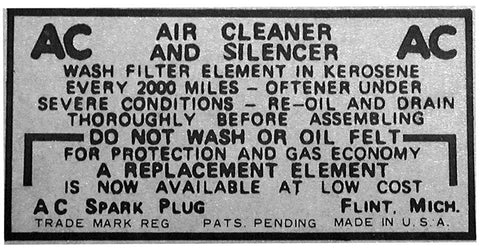BD02 | 1933-36 Air Breather Decal