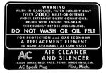 BD04 | 1938-48 Air Breather Decal