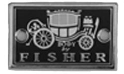 BF01 | 1925-31 Body by Fisher Cowl Plate