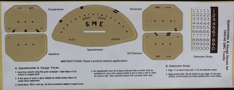 DD05-GM | 1940-46 GMC Instrument Panel Decal Kit