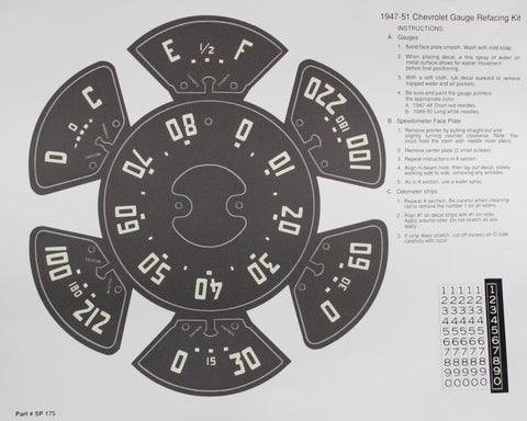 DD06-TK  | 1947-51 Truck Instrument Panel Decal Kit