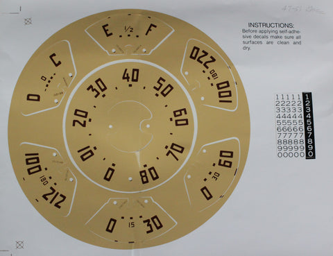 DD07-GM | 1947-51 GMC Instrument Panel Decal Kit