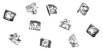 DW03-C | 1937-38 Door Weatherstrip Clips (Also Universal Glass Sweep Clip) - Set of 10