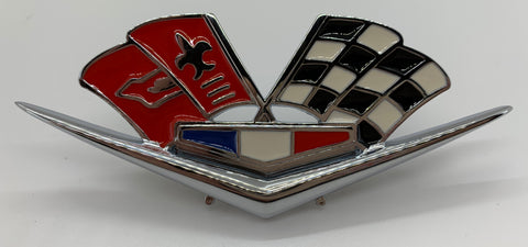 "FE62-F | 1962-63 Chevrolet (with 327 or 409) Fender Emblems "" V-Flags"" (See Description for Other Fits)"